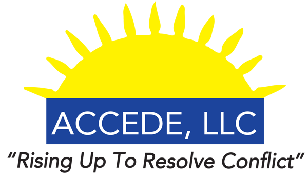 Accede LLC logo - Rising Up To Resolve Conflict